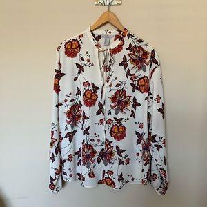 H&M floral peasant blouse 🌺